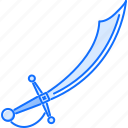 bandit, crime, pirate, saber, seafaring, sword icon