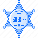badge, bandit, crime, sheriff, west, wild icon