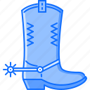 bandit, boot, crime, spur, west, wild icon