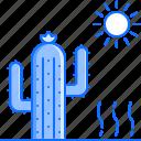 bandit, cactus, crime, desert, sun, west, wild icon