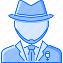 bandit, costume, crime, hat, mafia, mafioso icon
