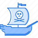 bandit, crime, pirate, seafaring, ship icon