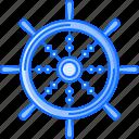 bandit, crime, pirate, seafaring, steering, wheel icon