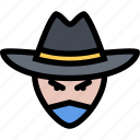 bandit, bandits, cowboy, cowboys, wild west icon