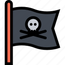 bandits, flag, pirate, pirates, sailing icon