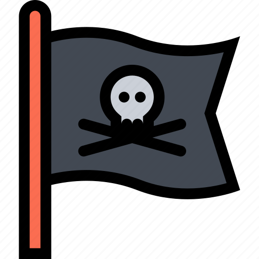 Bandits, flag, pirate, pirates, sailing icon - Download on Iconfinder