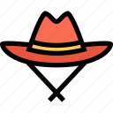 bandits, cowboy, cowboys, hat, wild west icon