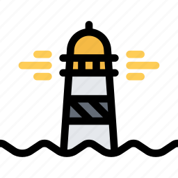 bandits, lighthouse, pirate, pirates, sailing icon