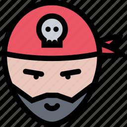 bandits, pirate, pirates, sailing, sailor icon