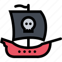 bandits, pirate, pirates, sailing, ship icon