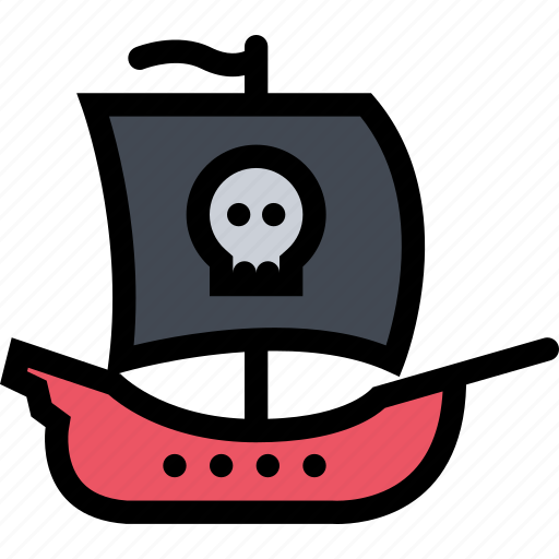 bandits, pirate, pirates, sailing, ship icon
