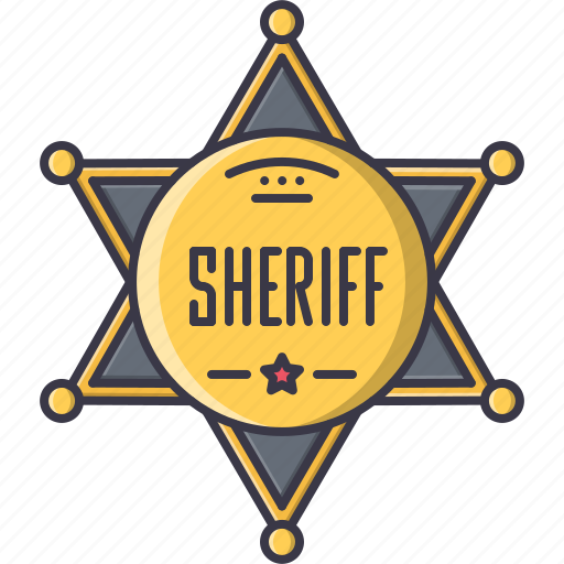 badge, bandit, crime, sheriff, west, wild icon