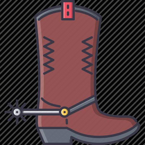 bandit, boot, crime, spur, west, wild icon