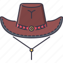 bandit, cowboy, crime, hat, west, wild icon