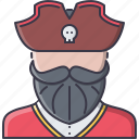 bandit, captain, crime, pirate, seafaring icon