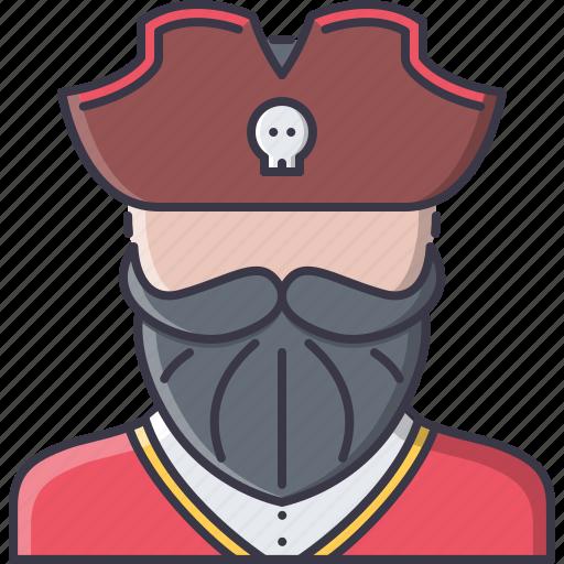 bandit, captain, crime, pirate, seafaring icon