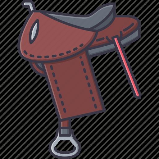 bandit, crime, horse, saddle, west, wild icon