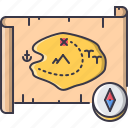bandit, compass, crime, map, pirate, seafaring, treasure icon