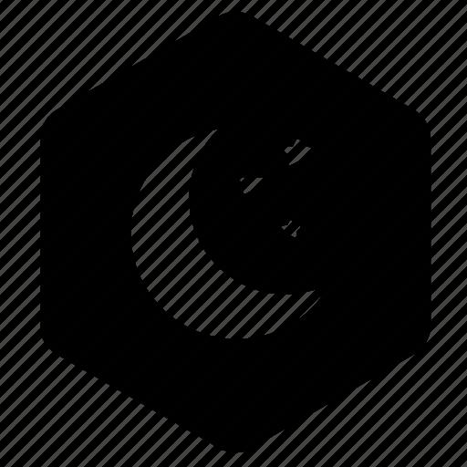Crescent moon, half moon, moon, night, stars icon - Download on Iconfinder