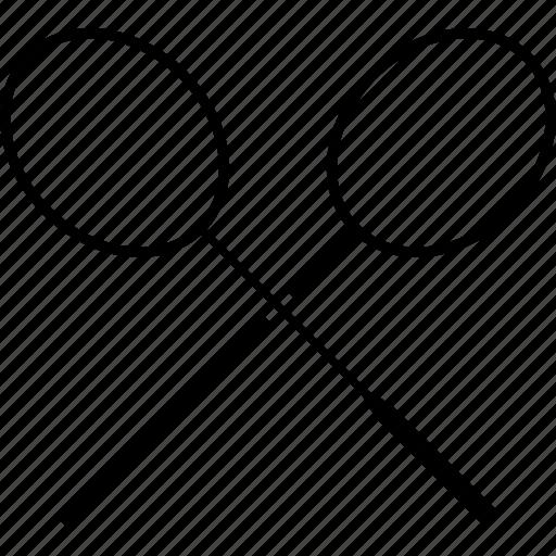badminton, logo, racket, racquet icon
