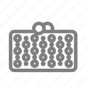 bag, party, woman, minaudiere, minaudière, hand, accessory icon