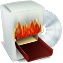 box, burn icon