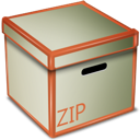 box, zip icon