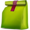 bag, doggy, green icon