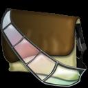 bagg, fichier, vido icon