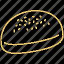 bun, kaiser, pastry icon