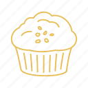 bakery, cake, cupcake, muffin, pastry icon