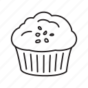 candy, cupcake, dessert, food, muffin, sweets icon
