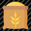 bakery, flour, rice, wheat, wheat flour icon