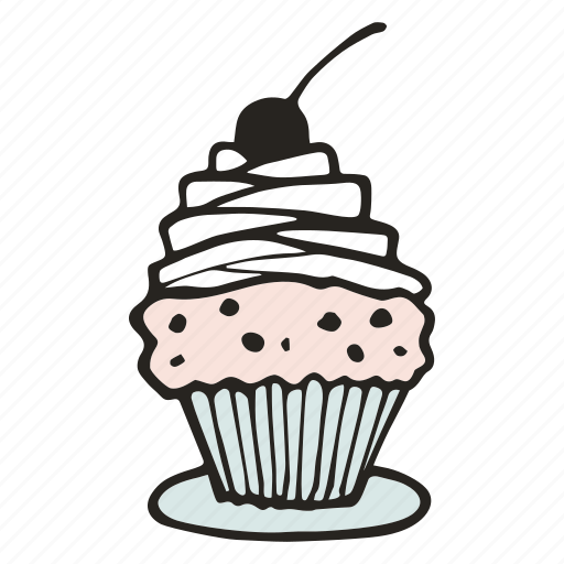 bakery, bread, cafe, cupcake, dessert, muffin, sweet icon