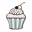 bakery, bread, cafe, cupcake, dessert, food, muffin icon