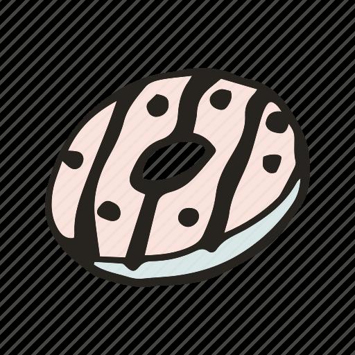 bakery, bread, breakfast, brunch, dessert, donut, food icon