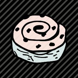 bakery, bread, breakfast, brunch, dessert, food, roll icon
