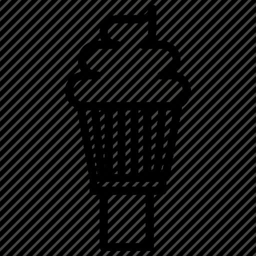 dessert, ice cream, ice cream icon, soft, soft serve, soft serve icon, softserve icon