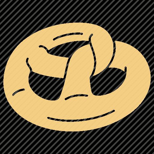 Bakery, bakery pretzel, breakfast, food, pastry, pretzel, pretzel icon icon - Download on Iconfinder