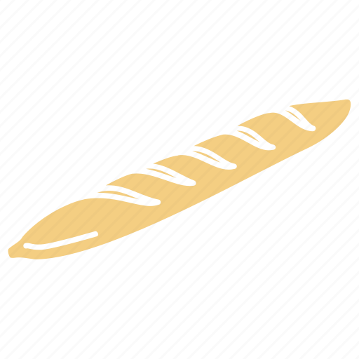 Baguette, bakery, bread, bread icon, bread loaf, french baguette, pastry icon - Download on Iconfinder
