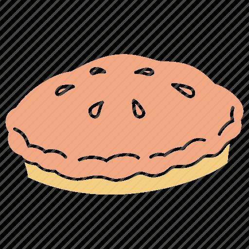 american pie, apple pie, bakery, cake, pastry, pie icon