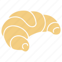 bakery, croissant, filled croissant, french croissant, puffy croissant, puffy pastry icon