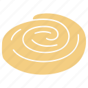 bakery, bakery icon, pastry, puffy pastry, snail, snail pastry icon