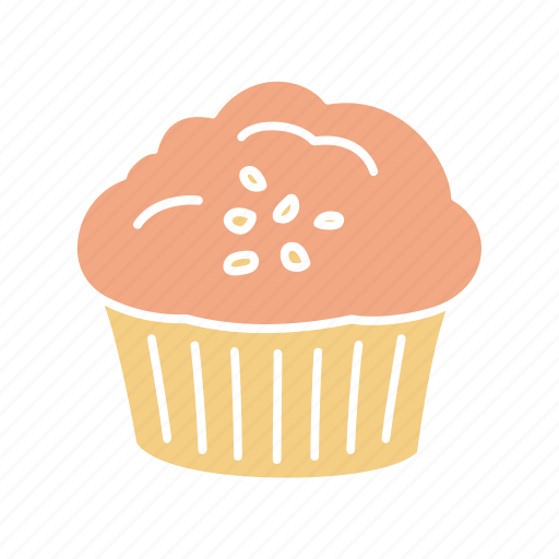 Cake, chocolate cupcake, chocolate muffin, cupcake, filled muffin, muffin, sweet icon - Download on Iconfinder