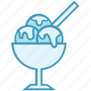 bakery, bowl, cream, dessert, ice cream icon