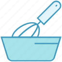 bakery, beater, bowl, egg mixer, hand beater, hand mixer icon