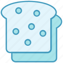 bakery, baking, bread, breakfast, food, load, slices icon
