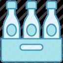 bakery, beer bottles, bottles, drink, drinking, wine pallet icon