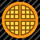 bakery, dessert, sweet, sweets, waffle icon