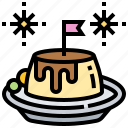 caramel, custard, milk, pudding, vanilla icon